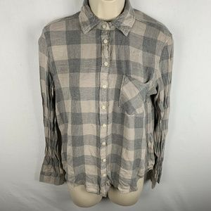 Aeropostale Womens Small Button Up Shirt Flannel i